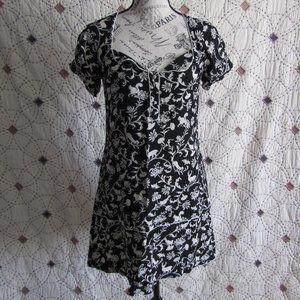 EUC Kimchi Blue Feminine Woodland Print Mini Dress